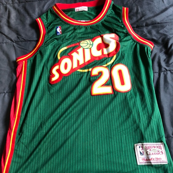 buy online fdd78 67a4d MITCHELL AND NESS GARY PAYTON SONICS JERSEY SIZE L NWT